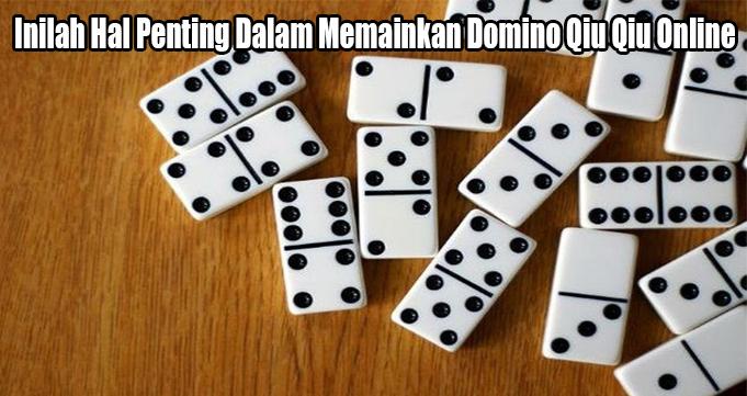 Inilah Hal Penting Dalam Memainkan Domino Qiu Qiu Online
